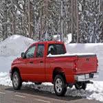 Truck stuck in snow