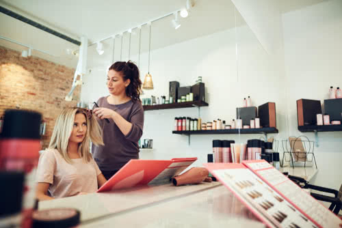 Hair stylist improves customer relationships, one of her small business goals