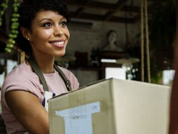 Man delivering resources for minority business owners