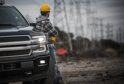 Following IRS Form 4562 instructions, construction worker can deduct his new truck.