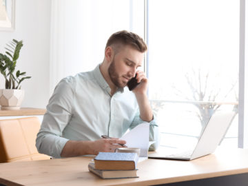 Small business owner researching SBA loans